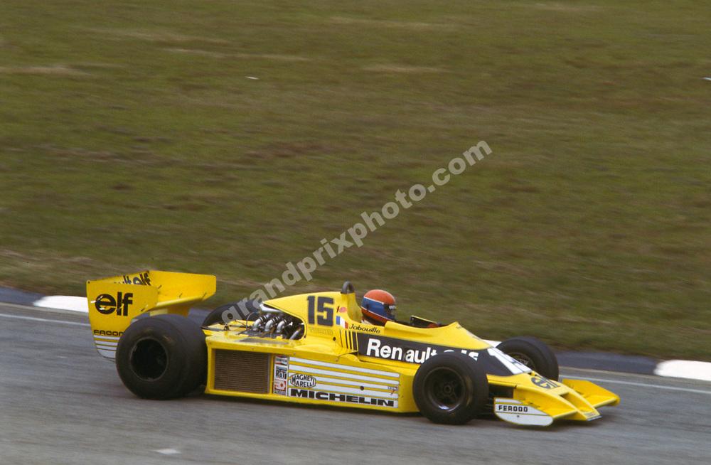 Jean-Pierre Jabouille (Renault) in the 1979 Brazilian Grand Prix in Interlagos. Photo: Grand Prix Photo