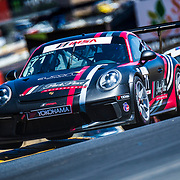 SEPT 15, 2018 Sonoma, CA, U.S.A : # 71 David Kolkmann take 7th place with a fast lap time 1:36.688 during the GoPro Grand Prix of Sonoma Porsche GT3 Race 1 at Sonoma Raceway Sonoma, CA  Thurman James
