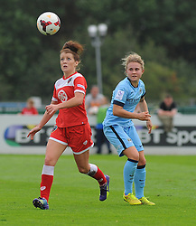 Bristol Academy Womens' Angharad James takes control of ball possession. - Photo mandatory by-line: Nizaam Jones- Mobile: 07583 387221 - 28/09/2014 - SPORT - Women's Football - Bristol - SGS Wise Campus - BAWFC v Man City Ladies - sport