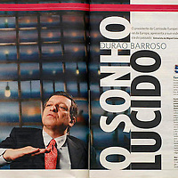 USE ARROWS ← → on your keyboard to navigate this slide-show<br /> <br /> Expresso - Portugal<br /> Article about the President of the European Commission Jose Barroso.<br /> Photo: Ezequiel Scagnetti