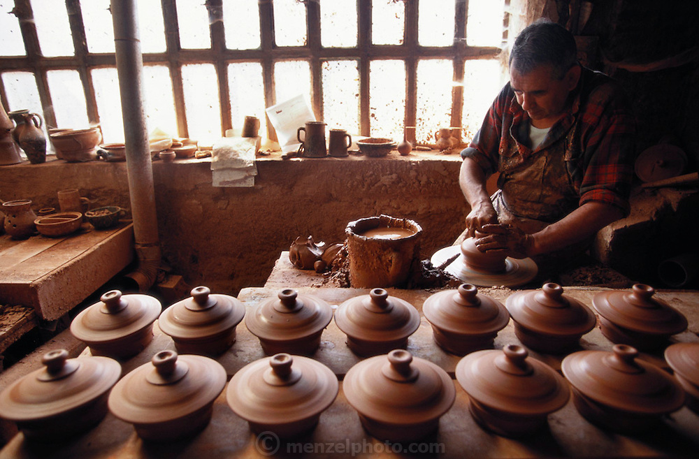 The potter's workshop of Armando Torrado, in Navarette, La Rioja, Spain.