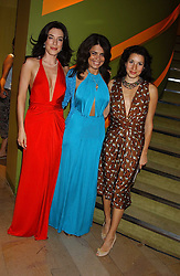 Left to right, actress JAIME MURRAY, DANIELLA HELAYEL and LAUREN KEMP at a fashion show by ISSA held at Cocoon, 65 Regent Street, London on 21st September 2005.<br />