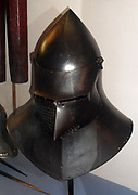 Helmet from a Suit of armour 14th Century from the Doge's Palace, Venice Italy.
