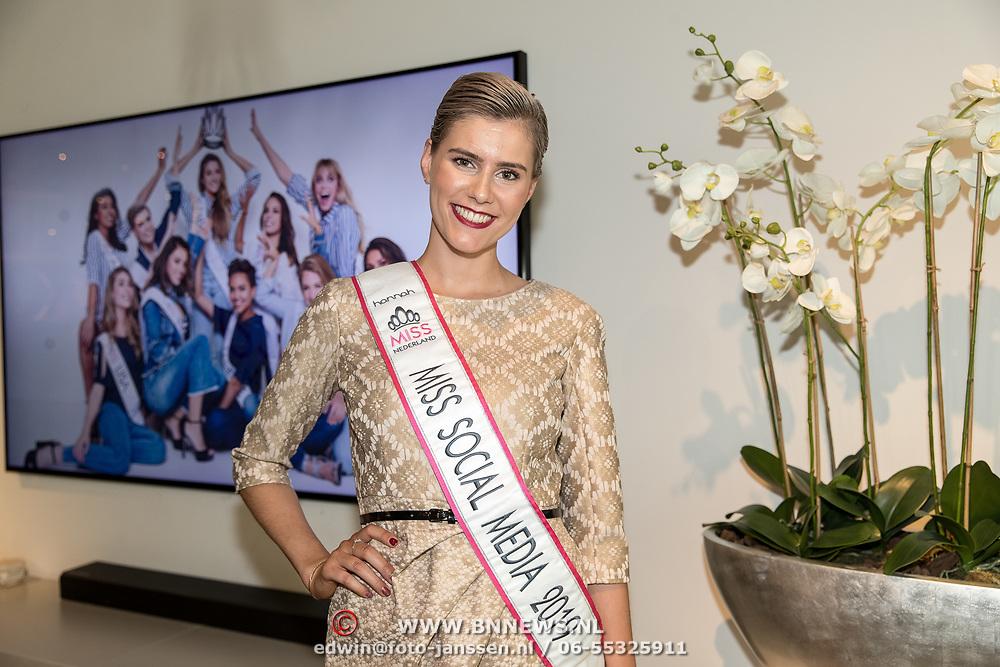 "NLD/Amsterdam/20190630 - Finale Miss Nederland 2019 ""Op jacht naar de kroon"", Leontine Berns is gekroond tot Miss Social media 2019"
