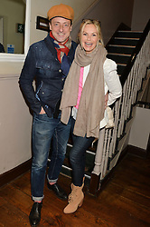 JEREMY HEALY and EMMA WOOLLARD at a party to celebrate the publication of 'Honestly Healthy For Life' by Natasha Corrett held at Bumpkin, 209 Westbourne Park Road, London on 26th March 2014.