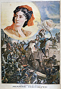 Jeanne Laisne (b1456), French heroine, also called Jeanne Hachette (Jean the Hatchet) for her courage in helping to prevent Burgundian troops taking Beauvais, 27 June 1472. From 'Le Petit Journal', Paris, 8 January 1894. France, Siege