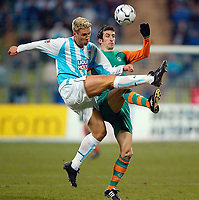 v.l. Torben Hoffmann, Johan Micoud Bremen<br /> Bundesliga TSV 1860 MŸnchen - Werder Bremen