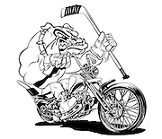 Bull Dogs Hockey/Motorcycle Club Logo designed by Mick Coulas.