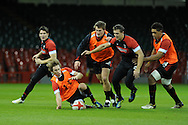Liam Williams of Wales (c)in action, Liam plays instead of injured George North. Wales rugby team training at the Millennium stadium in Cardiff , South Wales on Thursday 22nd November 2012.  the team are preparing for their next autumn international match against the Allblacks this Saturday. pic by Andrew Orchard, Andrew Orchard sports photography,