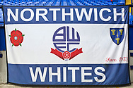 Bolton FC fans banner before the EFL Trophy match between Bolton Wanderers and Bradford City at the University of  Bolton Stadium, Bolton, England on 3 September 2019.