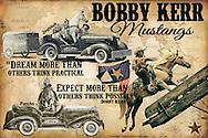 Bobby Kerr Mustang Poster