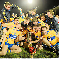 15 September 2012; Clare players celebrate with the trophy. Bord Gáis Energy GAA Hurling Under 21 All-Ireland 'A' Championship Final, Clare v Kilkenny, Semple Stadium, Thurles, Co. Tipperary. Picture credit: Matt Browne / SPORTSFILE