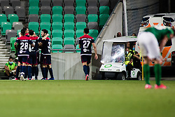during football match between NK Olimpija Ljubljana (SLO) and HSK Zrinjski Mostar (BIH) in Second Round of UEFA Europa League Qualifications, on September 17, 2020 in Stadium Stozice, Ljubljana, Slovenia. Photo by Grega Valancic / Sportida
