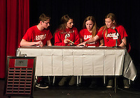 Laconia High School's first annual Spelling Bee with Got Lunch.  Karen Bobotas for the Laconia Daily Sun