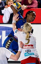 Ana Miriam Do Espirito Ferreira De Sousa of Krim during 3rd Main Round of Women Champions League handball match between RK Krim Mercator, Ljubljana and Larvik HK, Norway on February 19, 2010 in Arena Kodeljevo, Ljubljana, Slovenia. Larvik defeated Krim 34-30. (Photo by Vid Ponikvar / Sportida)