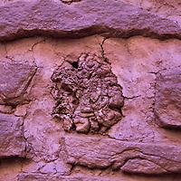 North America, USA, Arizona, Wupatki. Detail of Wukoki Pueblo in Wupatki National Monument.