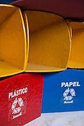 Belo Horizonte_MG, Brasil...ASMARE (Associacao dos Catadores do Papel Papelao e Material Reaproveitavel). Na foto detalhe da lixeira para coleta seletiva...ASMARE (Association of Collectors of Paper Cardboard and Reusable Material). In this photo some trash can...Foto: JOAO MARCOS ROSA / NITRO