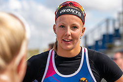 Katja Stam. The Final Day of the DELA NK Beach volleyball for men and women will be played in The Hague Beach Stadium on the beach of Scheveningen on 23 July 2020 in Zaandam.