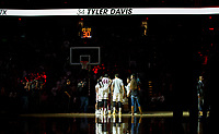 Members of the Texas A&M basketball team gather before the start of an NCAA college basketball game against Florida Tuesday, Jan. 2, 2018, in College Station, Texas. (AP Photo/Sam Craft)