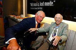 20140706 NED: WLV Nederland - Tsjechie, Rotterdam<br /> Hans Nieukerke, president Dutch Volleybal Federation, Piet Moerman, the oldest (age 100) fan of volleybal in the Netherlands<br /> ©2014-FotoHoogendoorn.nl / Pim Waslander