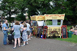 Icecream stall, Chapelfield Gardens, Norwich UK