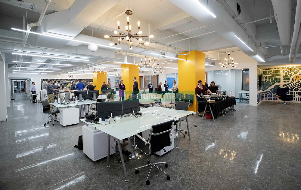 September 20, 2018 - Minneapolis, MN, USA - The coworking space at Novel during the grand opening in the former Art Institute building in Minneapolis. .... .. – September 20, 2018, Minneapolis, MN, Coworking company Novel will have the grand opening of its new space in the former Art Institute building in Minneapolis (Credit Image: © TNS via ZUMA Wire)