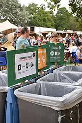 Latitude Festival, Henham Park, Suffolk, UK July 2018. Waste and recycling