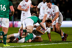 Rusiate Tuima of England U20 - Rogan/JMP - 21/02/2020 - Franklin's Gardens - Northampton, England - England U20 v Ireland U20 - Under 20 Six Nations.