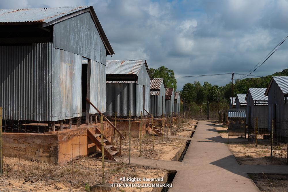 Barracks in military prison of Pu Quoc, Coconut Prison