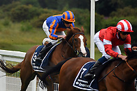 Horse Racing - 2020 Derby Festival - Delayed because of Covid-19<br /> <br /> R L Moore on Love winner of the Investec Oaks, at Epson Downs.<br /> <br /> COLORSPORT/ASHLEY WESTERN