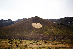 January 31, 2017 - Heart shaped pattern in hillside, Iceland (Credit Image: © Sg Hirst/Image Source via ZUMA Press)