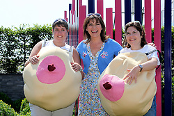 © under license to London News Pictures. London, UK  04/07/2011. Lorraine Kelly, a Coppafeel! supporter, was joined with young girls who have been treated for breast cancer and have been affected by the Charity, at the Hampton Court Palace Flower Show Photo credit should read Craig Shepheard/LNP. Please see special instructions.