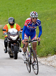 Tomaz Nose (SLO) of Adria Mobil going uphill to Krvavec at 3rd stage of Tour de Slovenie 2009 from Lenart to Krvavec, 175 km, on June 20 2009, Slovenia. (Photo by Vid Ponikvar / Sportida)