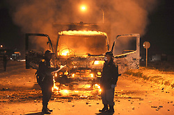 South Africa Cape Town 15 July 2020 Protesting backyarders set a truck alight near Covid-19 Informal Settlement in Mfuleni Photographer Ayanda Ndamane African News Agency(ANA)
