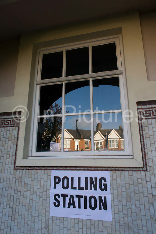 Britons go to the polls today in a general election predicted to be the closest for decades as no single party is expected to secure a majority. Londoners vote at their local polling station, a church in the south London borough of Herne Hill, SE24, Lambeth.
