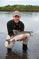 A nice Silver Salmon !..shot on the Kanektok River, Alaska, USA..