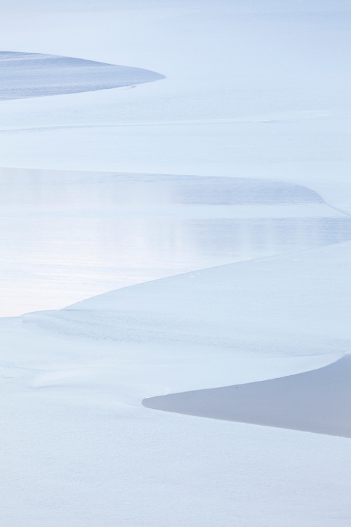 Patterns on the water surface over shallows in Turnagain Arm, Chugach State Park, Alaska.
