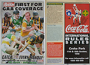 All Ireland Senior Hurling Championship - Final, .13.09.1998, 09.13.1998, 13th September 1998, .13091998AISHCF,.Senior Kilkenny v Offaly, .Minor Kilkenny v Cork,.Offaly 2-16, Kilkenny 1-13,.The Star, Coca Cola,