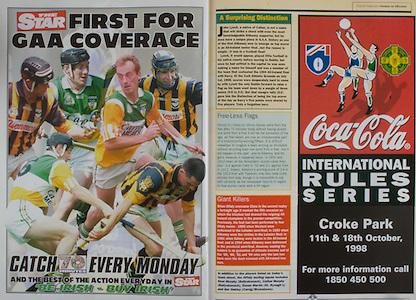 All Ireland Senior Hurling Championship - Final, .13.09.1998, 09.13.1998, 13th September 1998, .13091998AISHCF,.Senior Kilkenny v Offaly, .Minor Kilkenny v Cork,.Offaly 2-16, Kilkenny 1-13,.The Star, Coca Cola,