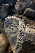 Lava stone, Napali Coast, Kauai, Hawaii