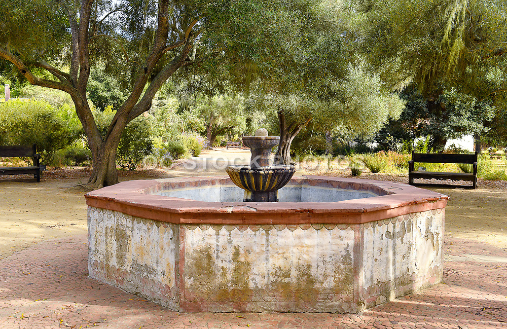 La Purisima Mission Fountain