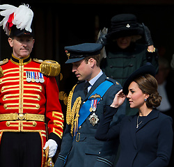 © London News Pictures. 13/03/2015. Catherine Duchess of Cambridge, Prince William and Camilla Duchess or Cornwall attends a service of commemoration to mark the end of combat operations in Afghanistan, at St Paul's Cathedral in London. Photo credit: Ben Cawthra/LNP