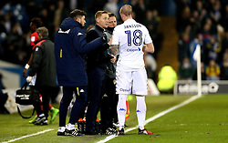 Leeds United manager Garry Monk talks to Pontus Jansson of Leeds United - Mandatory by-line: Robbie Stephenson/JMP - 14/02/2017 - FOOTBALL - Elland Road - Leeds, England - Leeds United v Bristol City - Sky Bet Championship