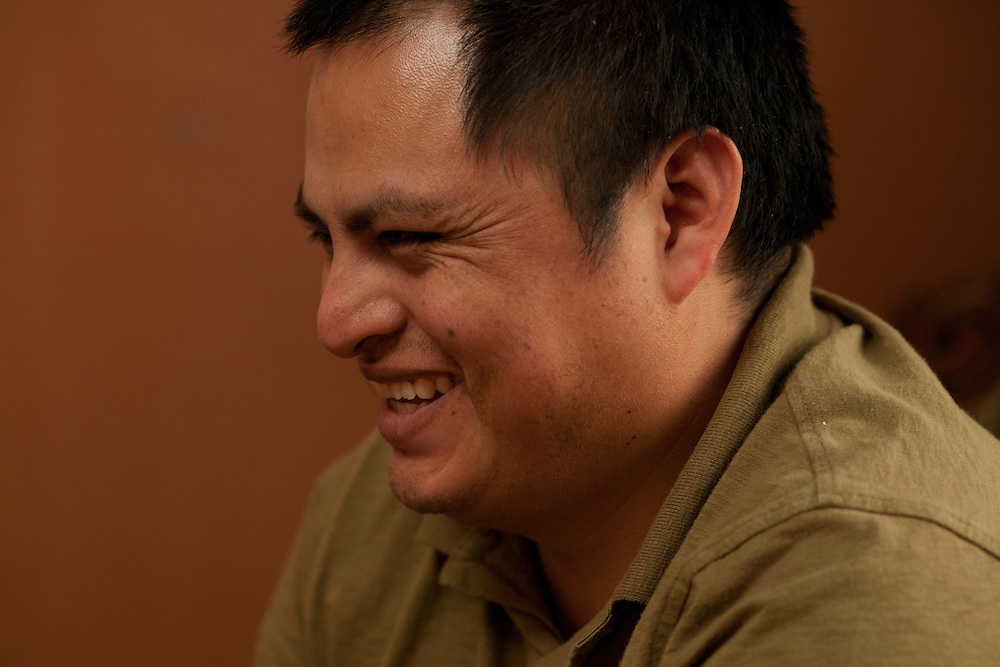 Irwin Sanchez in a light moment.