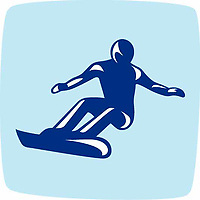 OLYMPIC GAMES VANCOUVER 2010 - VANCOUVER (CAN) - PHOTO : VANOC/COVAN / DPPI<br /> PICTOGRAMS - SNOWBOARD