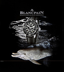Blancpain Fifty Fathoms Watch 2009 Edition, advertising book, back cover use, Germany, Image ID: Spotted-Dolphin-Atlantic-0004