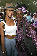 Yaya DeCosta and her mother, Angie Hubbard at the Celebration of the Life and Legacy of Dr. Barabara Ann Teer at the Memorial Service held at The Riverside Drive in Harlem, NY on Monday, July 28, 2008