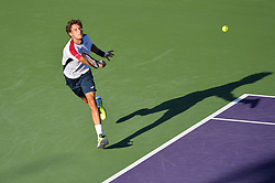 March 29, 2018 - Key Biscayne, FL, U.S. - KEY BISCAYNE, FL - MARCH 29: Pablo Carreno Busta (ESP) in action during day 11 of the 2018 Miami Open held at the Crandon Park Tennis Center on March 29, 2018 in Key Biscayne, Florida.  (Photo by Andrew Patron/Icon Sportswire) (Credit Image: © Andrew Patron/Icon SMI via ZUMA Press)
