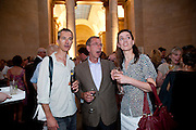 GEOFF DYER; REBECCA WILSON, Tate Summer Party. Celebrating the opening of the  Fiona Banner. Harrier and Jaguar. Tate Britain. Annual Duveens Commission 29 June 2010. -DO NOT ARCHIVE-© Copyright Photograph by Dafydd Jones. 248 Clapham Rd. London SW9 0PZ. Tel 0207 820 0771. www.dafjones.com.