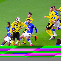 21.11.2020, OLympiastadion, Berlin, GER, DFL, 1.FBL, Hertha BSC VS. Borussia Dortmund, <br /> DFL  regulations prohibit any use of photographs as image sequences and/or quasi-video<br /> im Bild Dedryck Boyata (Hertha BSC Berlin #20), Omar Alderete (Hertha BSC Berlin #14), Krzysztof Piatek (Hertha BSC Berlin #9)<br /> Emre Can (Borussia Dortmund #23), Mats Hummels (Borussia Dortmund #15), Manuel Akanji (Borussia Dortmund #16), Axel Witsel (Borussia Dortmund #28)<br /> <br />       <br /> Foto © nordphoto / Engler